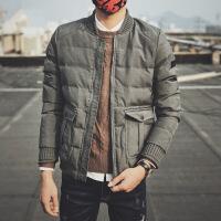 冬季韩版修身潮流短款棉衣男帅气刺绣棒球青年男士面包服外套