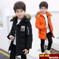 童装男童冬季棉衣2018新款冬装棉袄外套中长款加厚冬款韩版潮