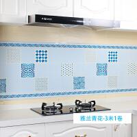 厨房防油贴纸耐高温灶台用自粘防水瓷砖橱柜台面油烟机墙贴壁纸