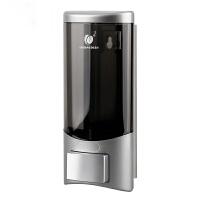 家用免打孔皂液器浴室手动洗手液器壁挂皂液盒洗发水沐浴露收纳盒 银色1023B 单格500ml*1
