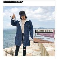 原宿风冬季新款韩版加厚女羊羔毛牛仔外套加绒棉袄短款宽松bf棉衣 S (155/80A)