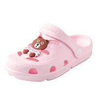 宝宝可爱凉拖鞋夏中大童鞋防滑软底家居浴室拖儿童男室内外洞洞鞋
