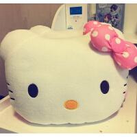 毛绒玩具凯蒂猫咪抱枕暖手两用被子午睡卡通空调毛毯子沙发汽车靠垫可爱KT创意公仔
