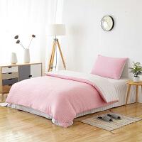 【2件5折】当当优品家纺 全棉日式针织床品 1.2-1.35米床 床单三件套 珍珠粉