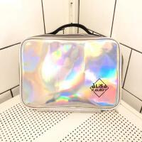 大容量防水镭射炫彩化妆包防水洗漱包便携旅行护肤品收纳包袋