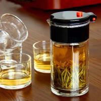 耐热双层玻璃茶壶茶具 飘逸杯套组泡茶壶泡茶杯过滤花茶壶