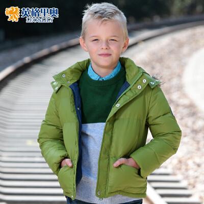 英格里奥童装冬装新款儿童羽绒服中大童男童休闲中长款童装1749特价直降 不参与任何优惠