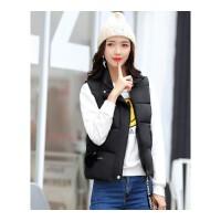 秋冬季新款韩版修身羽绒棉马甲女短款加厚立领棉背心外套