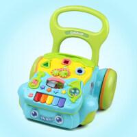 宝宝学步手推车婴儿助步7-12-18个月多功能推推乐男女孩走路 蓝色 男宝学步车