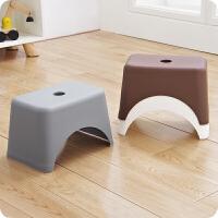 加厚塑料儿童矮凳 家用客厅小板凳成人换鞋凳洗脚凳浴室防滑凳子