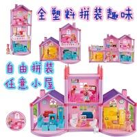 小伶玩具 套装芭比娃娃的房子大别墅之梦想豪宅过家家女孩床 全塑料别墅 969 +送送背包+贴纸