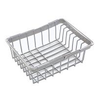 可伸缩水槽沥水架塑料放碗筷架子家用厨房碗碟架蔬菜碗碟收纳架