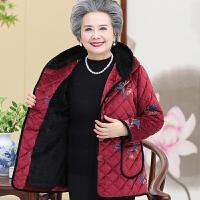 中老年人女装冬装棉袄外套妈妈60岁70老人衣服奶奶加绒棉衣太太80