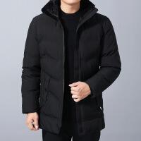 新款爸爸秋装外套中年男棉衣中老年男装休闲夹克40-50岁冬装 102黑色 175