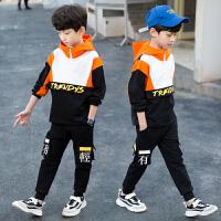 2019春季新款中大童春秋款洋气男孩小童运动两件套儿童装男童套装