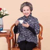 中老年女装冬装中袖花棉衣奶奶装棉袄短款老年人妈妈装外套 佳洁花棉袄1号色 XL(44码)
