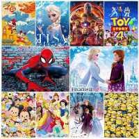 迪士尼拼�D�和�益智300/500/1000片�K成年�Э�凵�公主漫威蜘蛛�b