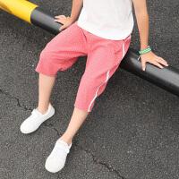夏季儿童五七分裤中大童裤子棉麻中裤薄款外穿男童夏装短裤