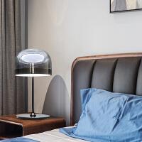 北欧卧室台灯简约创意个性玻璃后现代客厅书房艺术装饰轻奢床头灯 按钮开关
