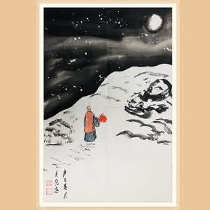 中国美术协会会员,中国青年美术家协会理事 吴大恺(雪景3)ZH439