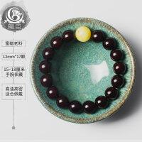 小尺寸印度金星小叶紫檀手串女士1.2檀木檀香佛珠1.0木头红木手链