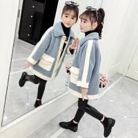 女孩洋气大衣2019新款儿童风衣韩版上衣女童秋冬装外套