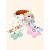 婴儿口水巾360度可旋转棉围嘴宝宝围兜儿童用品婴儿口水巾