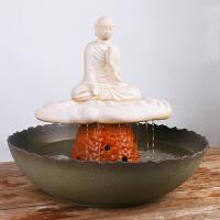 【新品】陶瓷流水�[件桌面客�d流水��泉�L水�加�耢F化器�~缸�_�I�Y品