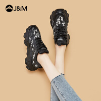 jm快乐玛丽2020秋冬新款厚底休闲运动ins潮老爹鞋女跑步鞋子