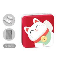 手机充电宝 充电宝大容量可爱卡通创意oppo苹果vivo华为手机通用便携迷你小型超萌小巧快充 红色 /猫
