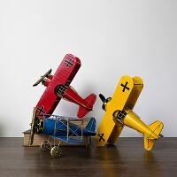 【品牌特惠】怀旧飞机模型铁艺摆件客厅家居装饰酒柜咖啡厅玄关隔断陈列小摆设
