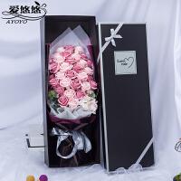 仿真玫瑰花束感恩节礼物送女朋友老婆闺蜜妈妈生日礼物香皂花礼盒