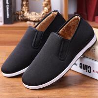 老北京布鞋冬季中老年人软底加绒加厚保暖男鞋男士爸爸鞋老头棉鞋