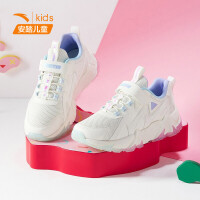 【到手价168】安踏女童运动鞋2021春季新款官网中大童女孩厚底休闲鞋322118856