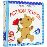 Clare Beaton's Action Rhymes 英文原版 触摸纸板书 Barefoot 英国光脚丫童书社 英