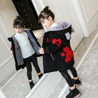 女童金丝绒棉衣秋季2018新款潮韩版洋气秋冬装中大童加厚加绒外套