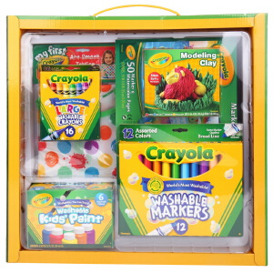 Crayola 绘儿乐 常规绘画组合礼包6件套(可水洗绘画蜡笔套装) 01-0011A