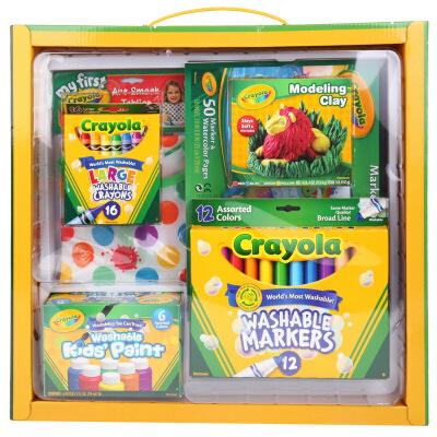 Crayola 绘儿乐 常规绘画组合礼包6件套(可水洗绘画蜡笔套装) 01-0011A【当当自营】美国进口儿童绘画品牌,安全无毒 绘本绘画用蜡笔