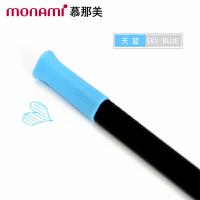 韩国monami/慕娜美04034-15三角杆水性笔 天蓝色 水性笔中性笔漫画勾线笔绘画涂鸦大中小学生用标注重点12色