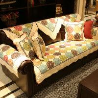 布艺沙发垫四季通用防滑坐垫简约现代客厅沙发靠背巾罩套定制 瓦伦西亚