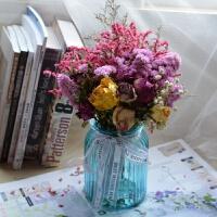 勿忘我真花玫瑰干花满天星情人干花花束花瓶客厅装饰 干花包