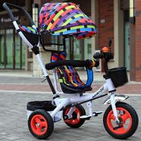 儿童三轮车男女宝宝脚踏车1-3-6岁小孩玩具自行车婴儿大号手推车