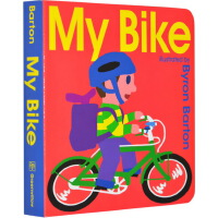 英文原版 My Bike Board Book 我的自行车 交通工具 纸板书 幼儿启蒙认知 拜伦巴顿 Byron Ba