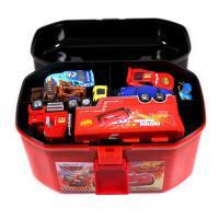 汽车赛车总动员3黑风暴杰克逊麦昆合金玩具车套装手提收纳盒 收纳盒+15款主角小车