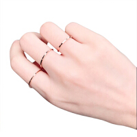韩版尾戒18k玫瑰金食指钛钢关节指环小指简约超细戒指女情侣对戒