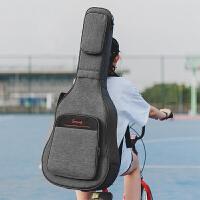 加厚双肩吉他包38/39寸40/41寸个性民谣古典木吉它包多口袋背琴包