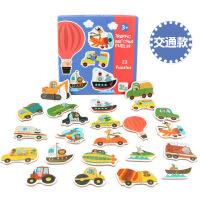 益智玩具 智力开发 朵莱 儿童大块配对拼图 动物交通水果蔬菜木制早教益智启蒙玩具交通配对