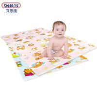 儿童爬行垫 加厚防潮可折叠游戏毯宝宝婴儿爬行毯防摔防滑 六片装 EPE棉 116CM*172CM*1.5cm