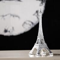 欧式简约巴黎埃菲尔铁塔家居树脂小摆件书房室内客厅创意装饰品
