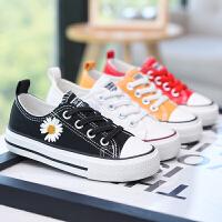 儿童帆布鞋春季女童布鞋透气网面板鞋童鞋小雏菊夏季鞋子